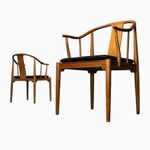 Sedie 4283 China in legno di ciliegio di Hans J. Wegner per Fritz Hansen, 1978, set di 2