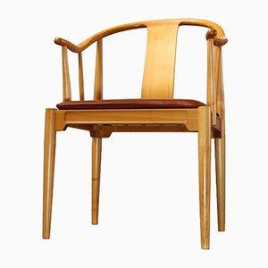 Sedia 4283 China in legno di ciliegio di Hans J. Wegner per Fritz Hansen, 1989