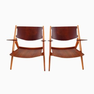 CH-28 Chairs by Hans J. Wegner for Carl Hansen & Søn, 1951, Set of 2