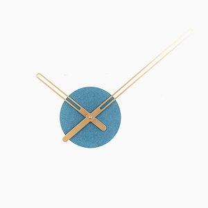 Horloge Sweep Bleue par Christopher Konings pour Nordahl Konings, 2017