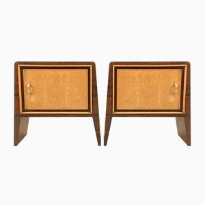 Tables de Chevet Vintage en Placage d'Acajou par Guglielmo Ulrich, Set de 2