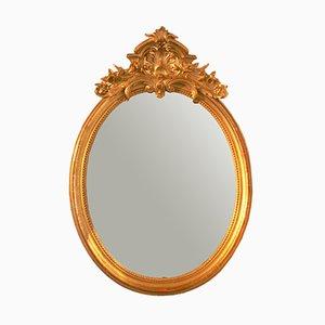 Antique Rococo Oval Wall Mirror