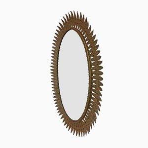 Miroir Mural Vintage Oval Doré