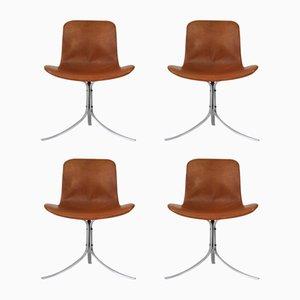 PK-9 Stühle von Poul Kjaerholm für E. Kold Christensen, 1960er, 4er Set