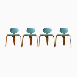 Set de Table et Chaises Vintage par Egon Eiermann pour Spieth Holztechnik, Set de 5