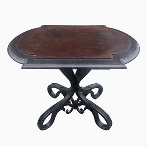 Antique Curved and Blackened Wood Table from Thonet