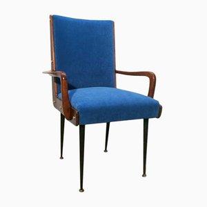 Blauer Armlehnstuhl, 1950er