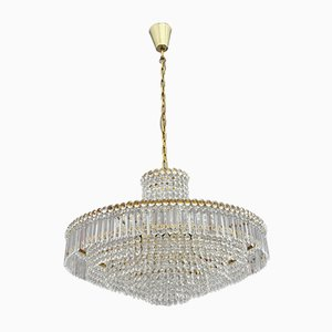 Crystal Glass Chandelier from Bakalowits & Sohne, 1950s