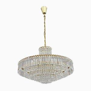 Lámpara de araña de cristal de Bakalowits & Sohne, años 50