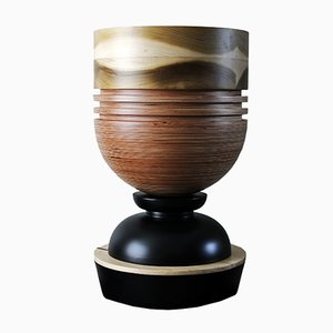 Tropical Noire Goblet Vessel by Simone Brewster