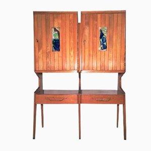 Schrank mit Dekorativen Fliesen, 1950er