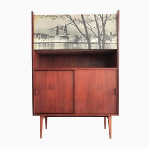 Italian Highboard with Bar, 1950s