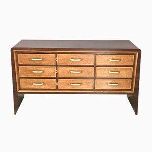 Vintage Italian Mahogany Veneer & Maple Dresser by Guglielmo Ulrich