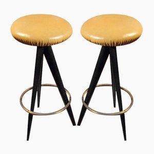 Sgabelli da bar di Osvaldo Borsani per Atelier Borsani Varedo, anni '50, set di 2