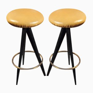 Tabourets de Bar par Osvaldo Borsani pour Atelier Borsani Varedo, Italie,1950s, Set de 2