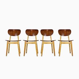 Chaises de Salon SB11 Série Combex Mid-Century par Cees Braakman pour Pastoe, 1950, Set de 4