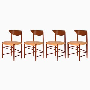Mid-Century Model 316 Dining Chairs by Peter Hvidt & Orla Mølgaard, Set of 4