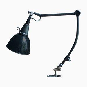 Lámpara de escritorio vintage en negro de Curt Fischer para Midgard