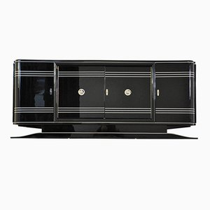 Large Art Deco Sideboard with Red Bar Compartment