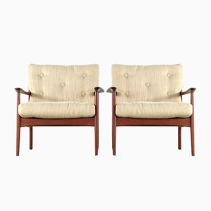 Mid-Century Modern Teak Easy Chairs by Eugen Schmidt for Soloform, Set of 2
