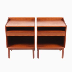 Danish Solid Teak Night Stands by Hvidt & Mølgaard for Søborg, 1950s, Set of 2