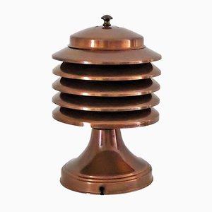 Kupfer Überzogene Metall Lampe von Coulter, 1930er