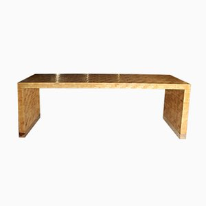 Mid-Century Console Table with Bamboo Marquetry