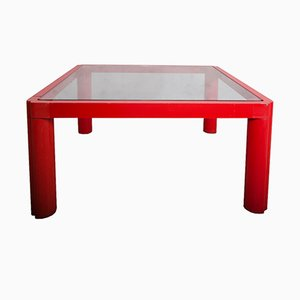 Red Model 80 Coffee Table by Kho Liang Le for Artifort, 1974