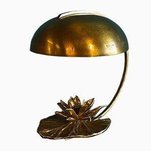Lámpara de mesa vintage con forma de nenúfar de Chrystiane Charles para Maison Charles