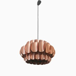 Mid-Century Copper Pendant Light from Temde