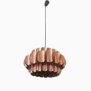 Mid-Century Copper Pendant Light from Temde