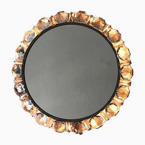 Espejo de pared Mid-Century moderno iluminado de cristal