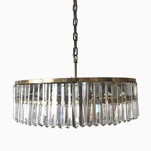 Lámpara de araña Mid-Century grande de cristal de Bakalowits & Sohne, años 50