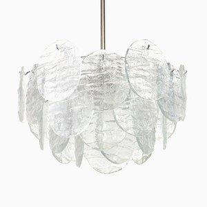 Lámpara de araña grande de cristal de hielo de Murano de Kalmar, años 60