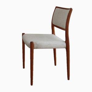 Modell 80 Stuhl von Niels Otto Möller für J.l. Möbelfabrik, 1960er