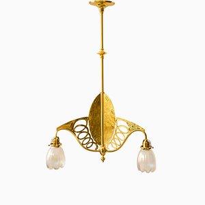 Art Nouveau Three-Light Ceiling Lamp