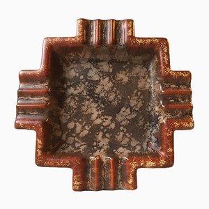 Cenicero 4219 Art Déco de cerámica de Michael Andersen & Son, años 30