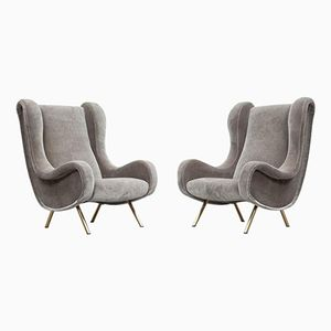 Vintage Lounge Chairs by Marco Zanuso for Arflex, Set of 2