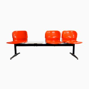 Panchina a tre posti con tavolino di Gerd Lange per Drabert, Germania, anni '60