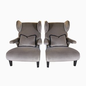 Bergere Armchairs, 1930s, Set of 2