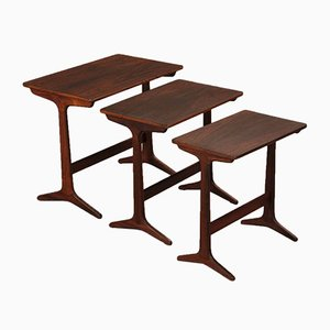 Danish Nesting Tables in Rosewood by Erling Torvits for Heltborg Møbler, 1960s