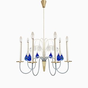 Mid-Century Chandelier from Vereinigte Werkstätten Collection, 1950s