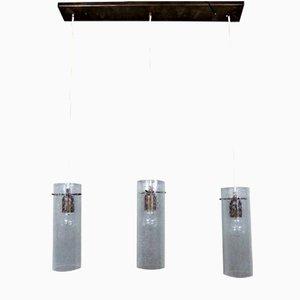 Lámpara colgante con tres luces, años 80