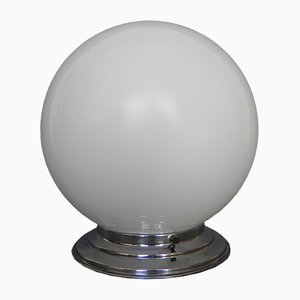 Art Deco Ceiling Lamp with White Glass Ball