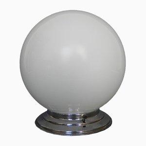 Art Deco Deckenlampe mit Weißer Kugelleuchte