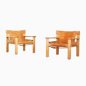Danish Lounge Chairs by Bernt Petersen, 1970s, Set of 2