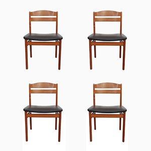 Dänische Stühle aus Teakholz von B & S, 1960er, 4er Set