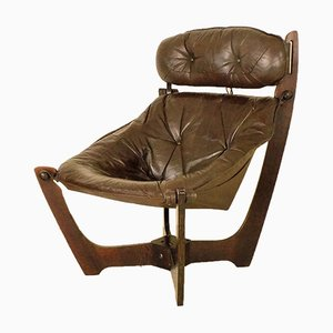 Vintage Luna Lounge Chair by Odd Knutsen for Hjellegjerde