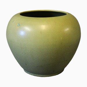 Mid-Century Vase mit Grüner Glasur von Herman Kähler