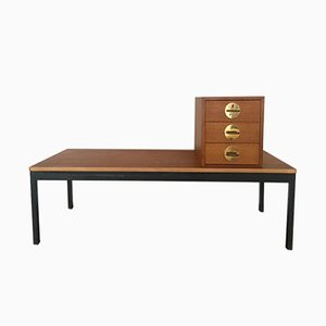 Vintage Triva Freestanding Teak Bench with Drawers by Erik Herløv for Nordiska Kompaniet